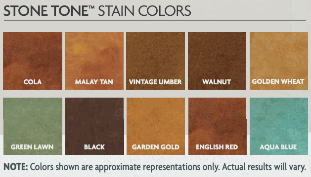 Acid Stain Color Chart Yarta