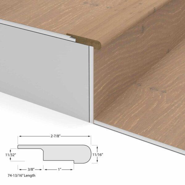 Oak & Maple Geowood Overlap Stair Nosing