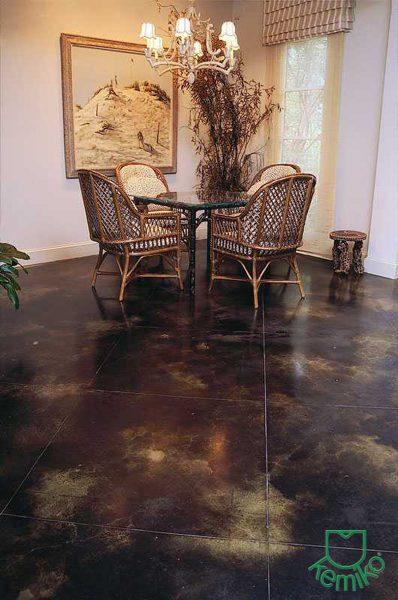 Kemiko Stone Tone Concrete Stain- Black & Green Lawn