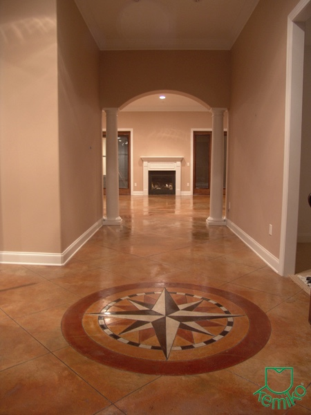Kemiko Stone Tone Concrete Stain- Golden Wheat & Vintage Umber with accents